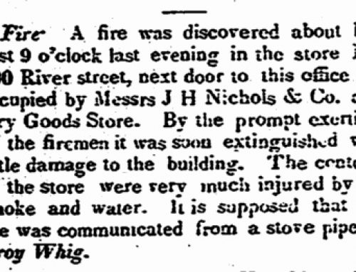 1841-12-22: Fire on River Street – The Earliest Newspaper Account of a Fire in Stamford